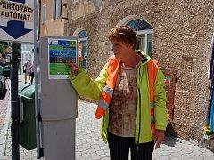 Platební automat v Husitské ulici