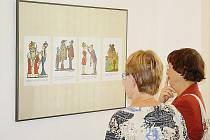 Výstava kreseb Jiřího Wintera V Tachově.
