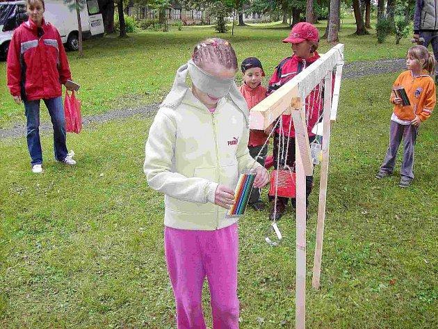 Pro děti byla v Halži připravena řada soutěží