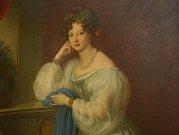 Obrazy rodinných portrétů Windischgrätzů – polního maršála Alfréda I. Windischgrätze a jeho manželky Eleonory Windischgrätzové roz. Schwarzenbergové.