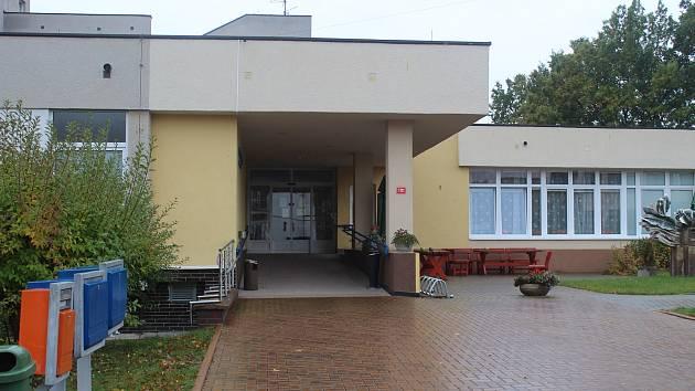 Vstup do Domova pro seniory Panorama v Tachově.