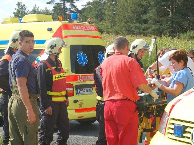 Zranění obou dětí byla vážná. Na místě zasahující lékaři proto zvolili jejich letecký převoz do Fakultní nemocnice
