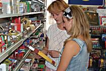 Rodičům všech školáků právě nastaly starosti s nákupem jejich školních potřeb. Náš snímek právě zachytil Martu Korschinskou a dcerou Denisou při výběru nových školních desek.