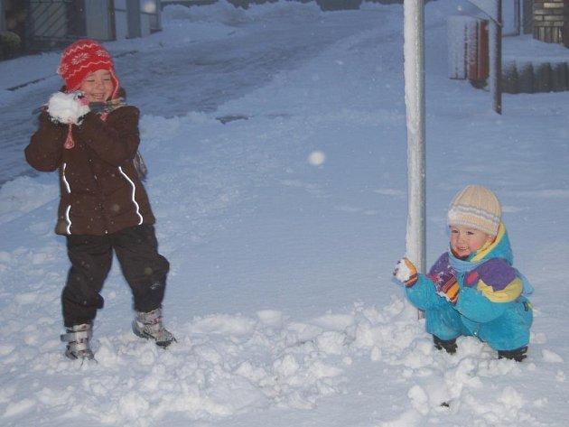 Sněhová nadílka na Přimdě.