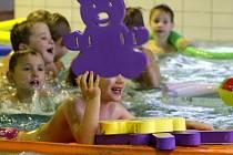 Plavecké úkony si osvojily děti třetí třídy mateřinky Prokopa Velikého v Tachově.