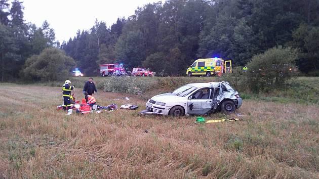 Dopravní nehoda mezi Tachovem a Planou.
