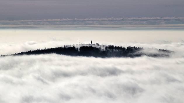 Pohled z rozhledny Havran v Českém lese