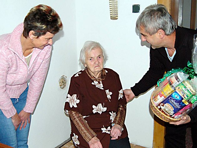 Nejstarší obyvatelka Lomu u Tachova.