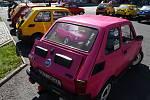 Setkání majitelů Fiatů 126p v Tachově.