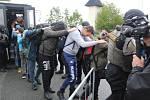 Na Rozvadově se konalo rozsáhlé cvičení na téma migranti