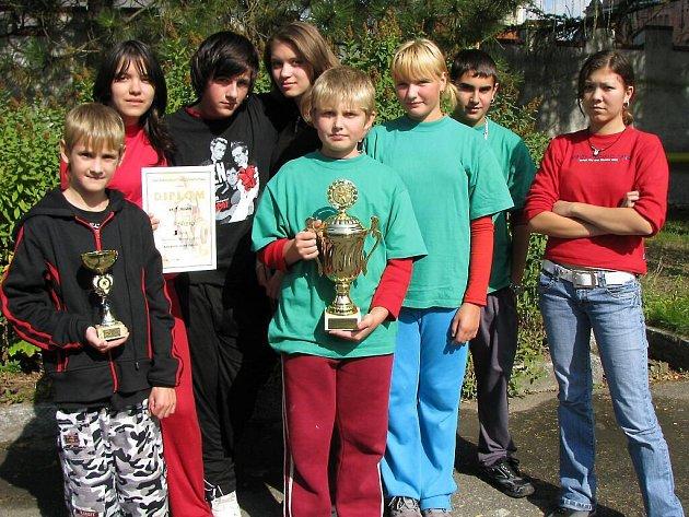 Družstvo dětí ze SDH Stříbro vyhrálo v rekordním čase 20,94 sec.