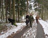 Novoroční výstup na Vlčí horu se konal v Černošíně 1. ledna odpoledne.