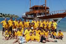 Dechový orchestr mladých byl na dovolené na řeckém Chalkidiki