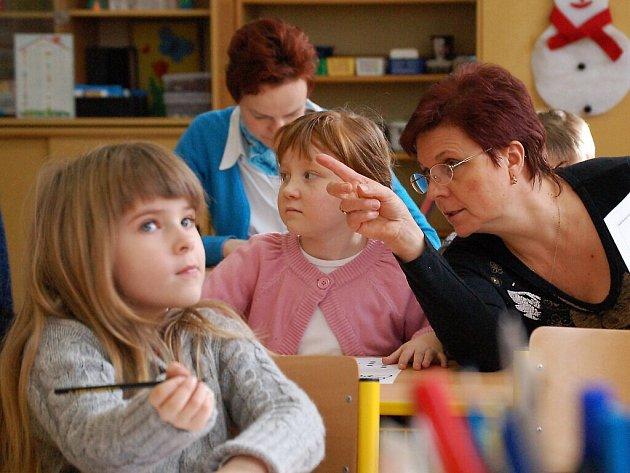Zápis dětí do první třídy v Chodové Plané.