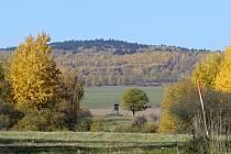 Barevná podzimní nálada mezi Březím a Štokovským vrchem.