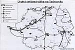 MAPKA mimo jiné ukazuje trasy pochodů smrti, kterých Tachovskem prošlo několik. Nejčastěji směřovaly po ose Chodová Planá – Planá – Tachov – Lesná – Flossenbürg.