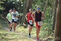 Vítěz kategorie běžců nad 50 let Ivan David (č.21)