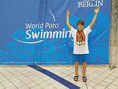 David Kratochvíl na světových závodech v Berlíně.