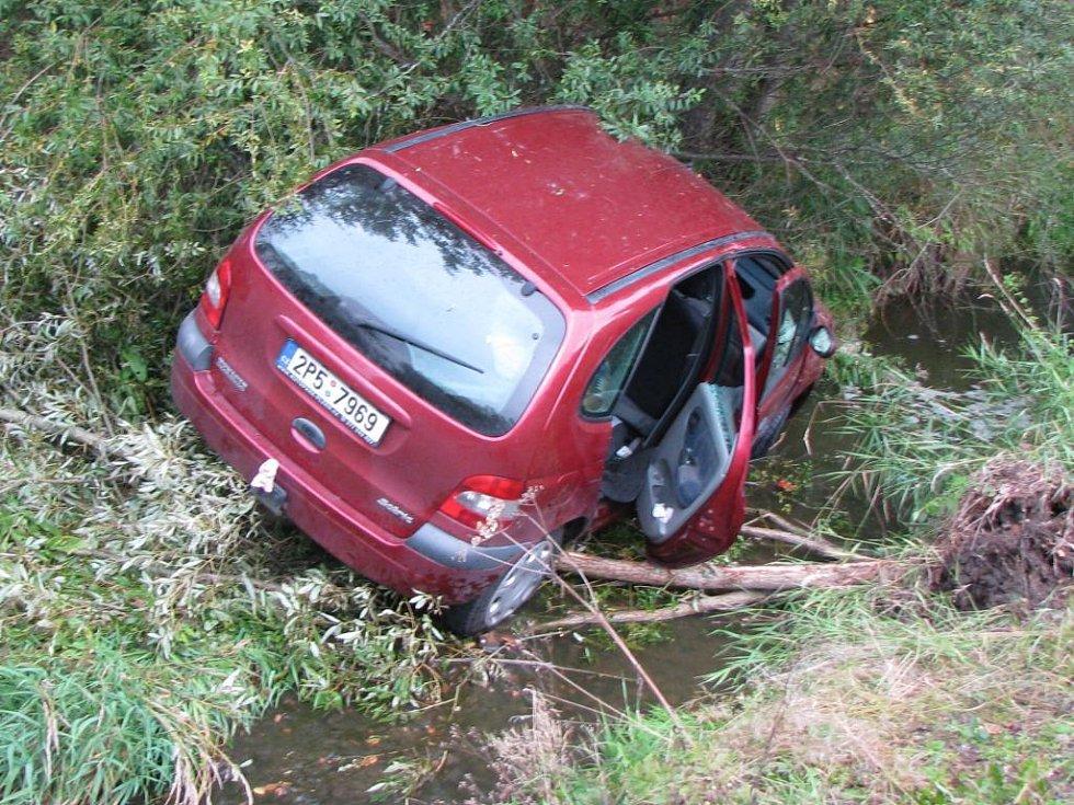 Další nehoda se stala u Regentu.