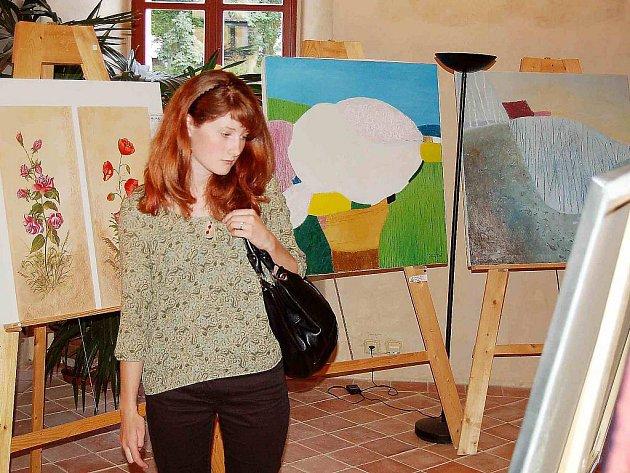 Výstava na zámku. V pátek se na borském zámku uskutečnila vernisáž výstavy Klubu výtvarníků Borska.