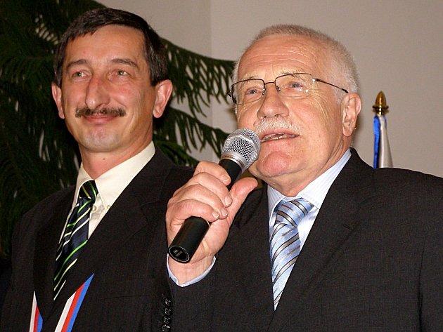 Václav Klaus navštívil Stříbro.