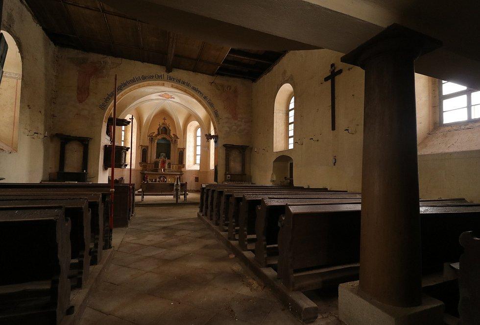 Z kostela v Michalových Horách.
