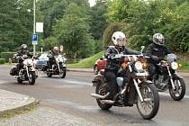 Tachovskem projeli motorkáři ze srazu Hells Angels (Pekelní andělé)