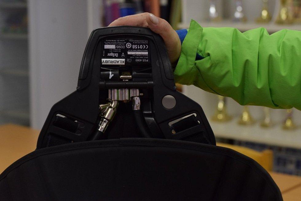 Hasiči dostali čtyři nové dýchací přístroje