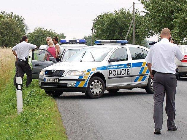 Zásah policie u Víchova.
