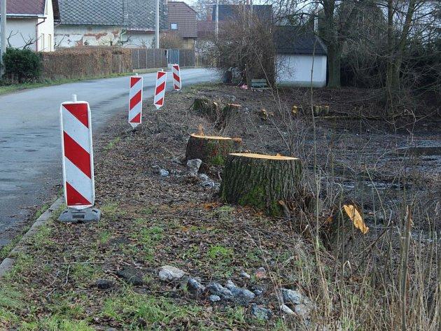 Hráz rybníka je ve špatném stavu. Proto musely bát pokáceny stromy a obec hráz opraví a zpevní. Na její koruně pak povede nový chodník.