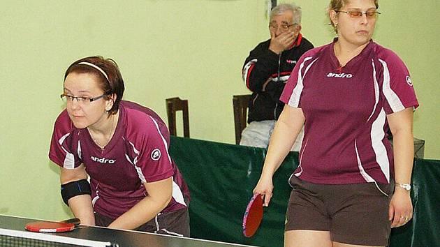 Stolní tenistky S. Bor si nadále upevnily druhé místo ve druhé lize žen.