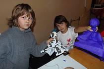 Občanské sdružení Víchov připravilo pro děti sobotní výtvarné odpoledne.