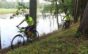 Z cyklistické soutěže v okolí Pirku.