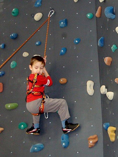 První lezecká stěna v Tachově se nachází ve zdejším Domě dětí a mládeže Mraveniště.