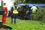 Tragická nehoda kamionu a dodávky v Tisové na Tachovsku.