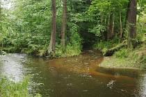 Ostrov na Mži omývá z jedné strany řeka, z druhé mlýnský náhon.