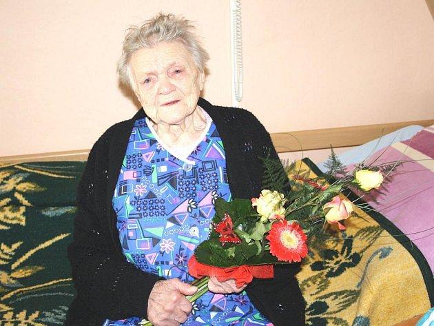 Anna Karboltová oslavila devadesáté první narozeniny.