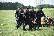 V blízkosti hranic s Německem se uskutečnilo rozsáhle cvičení záchranných složek.