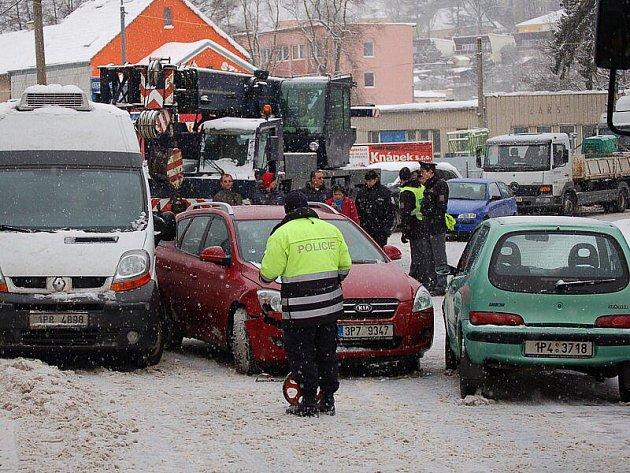 Nehoda v tachovské Plzeňské ulici.