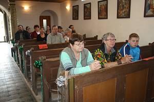 V kostele v Okrouhlém Hradišti se v sobotu při Cyrilometodějském setkání sešlo zhruba třicet věřících