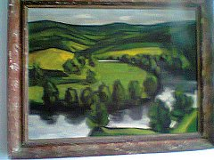 Krajina na obrazu by měla vyobrazovat část řeky Mže protékající Stříbrskem.