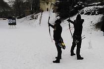 V letošním distančním lukostřeleckém Poháru ČLS se střílelo i na sněhu.