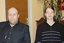 Členové Občanského sdružení 15. Přední hlídka Royal Rangers Tomáš Rusňák a Markéta Postlová.
