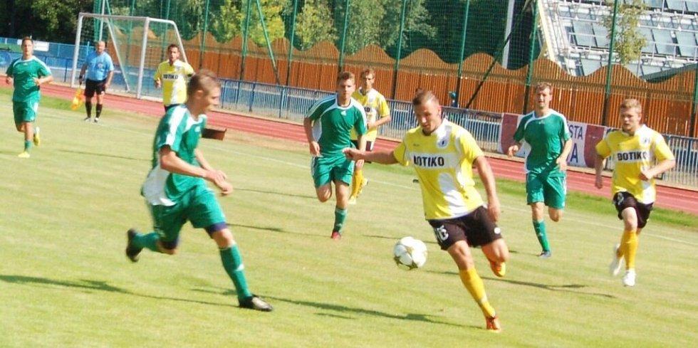 Přípravný fotbal: V Tachově hrála třetiligová J. Domažlice a neudržela tříbrankový náskok.