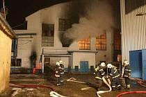 Požár ve sklárně v Heřmanově Huti