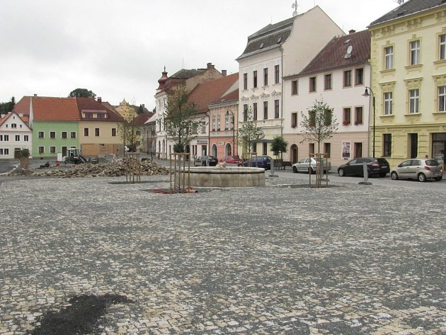 Současná podoba západní části náměstí Svobody v Plané.