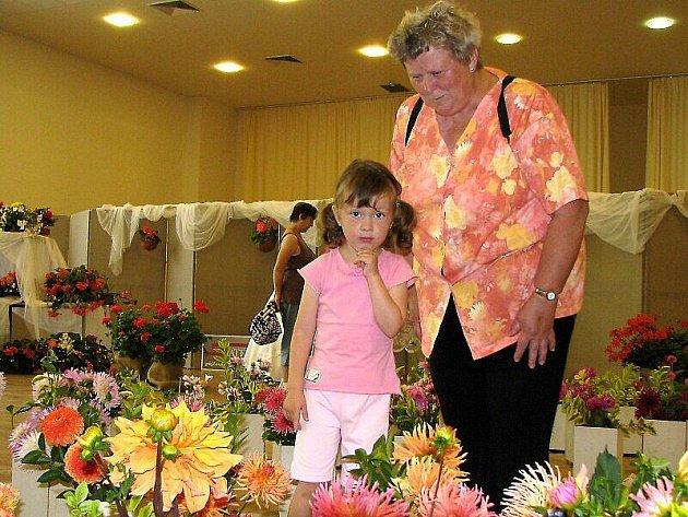 Milovníci květin obdivují na výstavě um jejich pěstitelů.