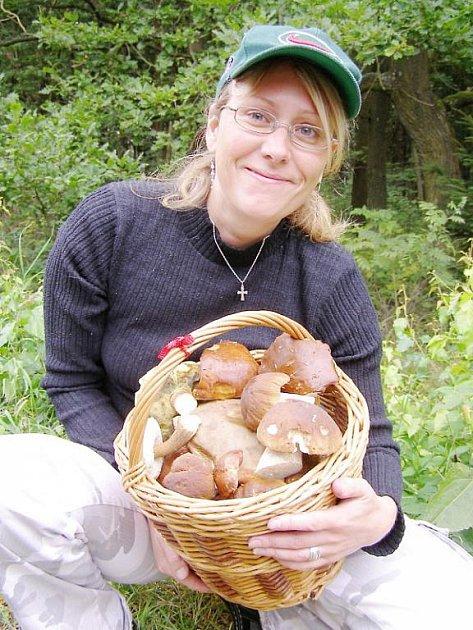 Romana Ficuová chodí na houby ráda a z každé má velkou radost.