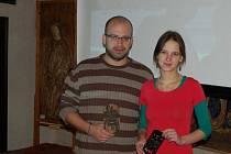 Jan Hutník s Veronikou Kejřovou.