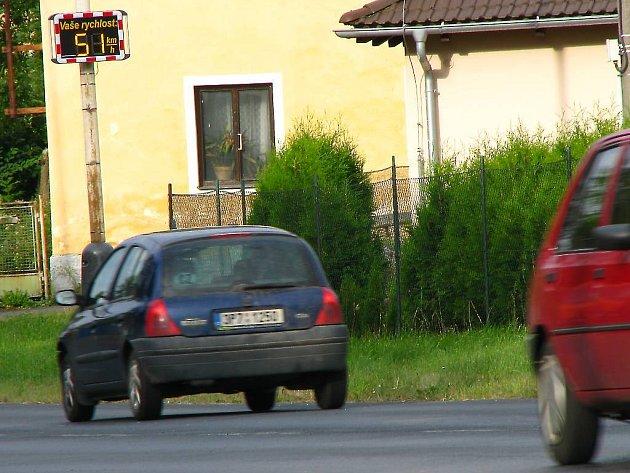 Další informativní radar pro řidiče je ve Vítkově na Tachovsku.
